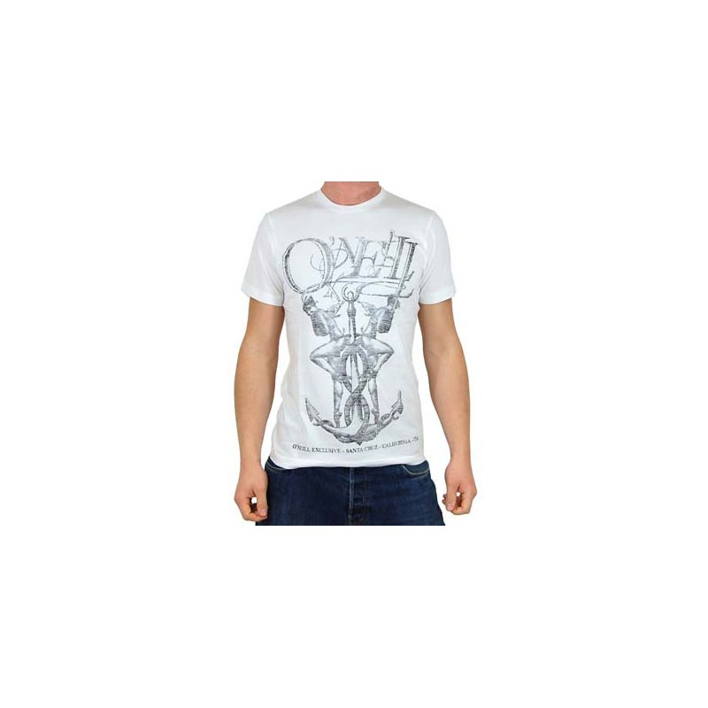 O'Neill Black bay T-shirt wit