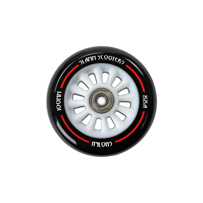 Slamm nylon roues de trottinette freestyle 100 mm blanc