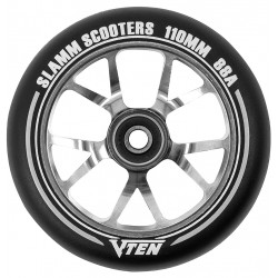 Slamm V-ten alloy core stunt step wheels 110 mm titanium
