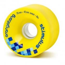 Orangatang Stimulus 70 mm wielen geel