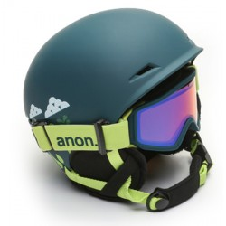 Anon Define youth skihelm with goggle dark green