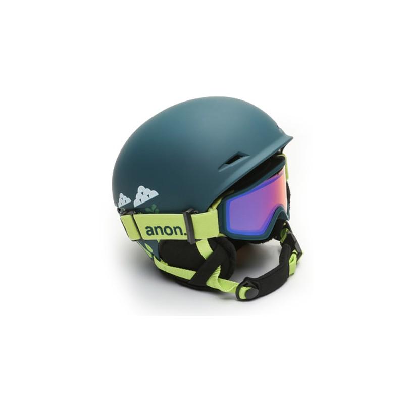 Anon Define casque de ski vert foncé avec masque de ski enfants (52-55 cm)