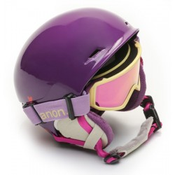 Anon Define youth skihelm with goggle purple (52-55 cm)