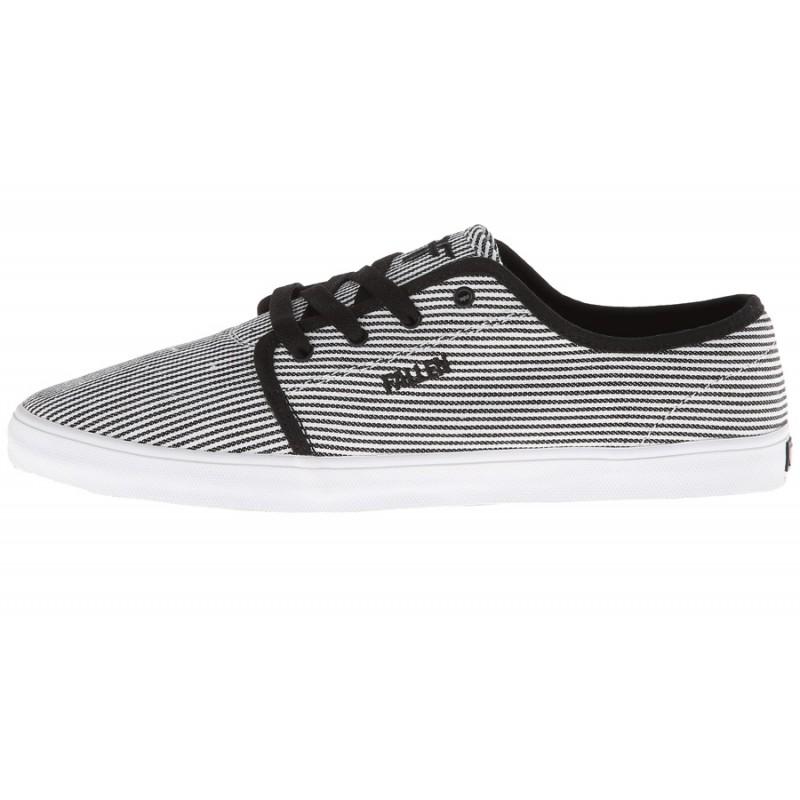 Fallen Daze skate schoenen wit / zwarte streepjes