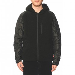 Globe Fielder Reversible Jacket black Polartec