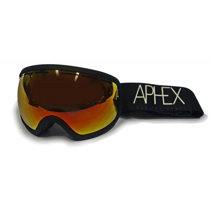 Aphex Baxter Skibrille schwarz - revo rot Linse