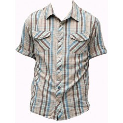 Insight Run to paradise short sleeve shirt taupe