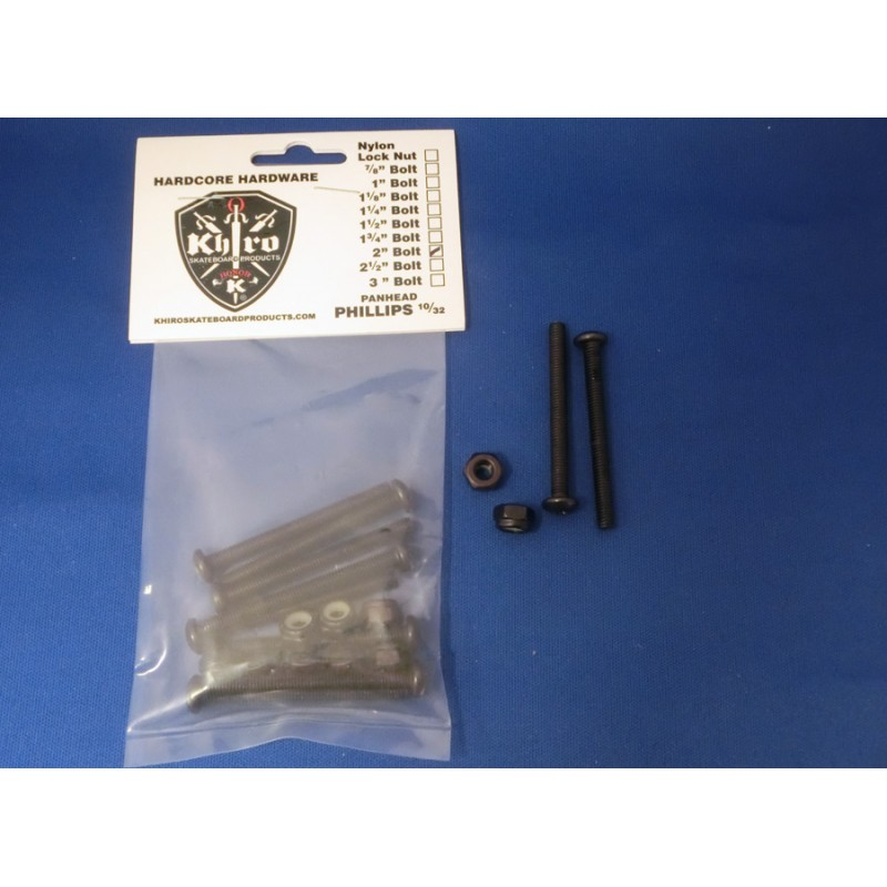 "Khiro Standard Panhead  2"" phillips screw set"