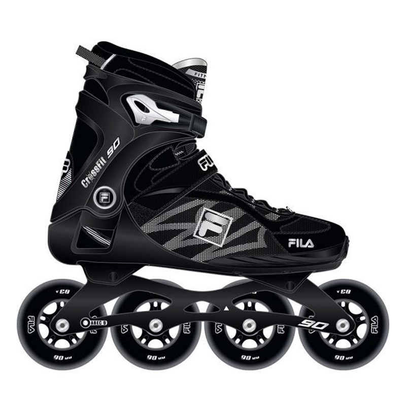 FILA Crossfit 90 inline skates zwart zilver