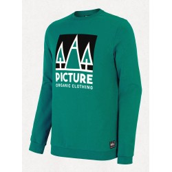 Picture Bellow crew sweat shirt lagoon green