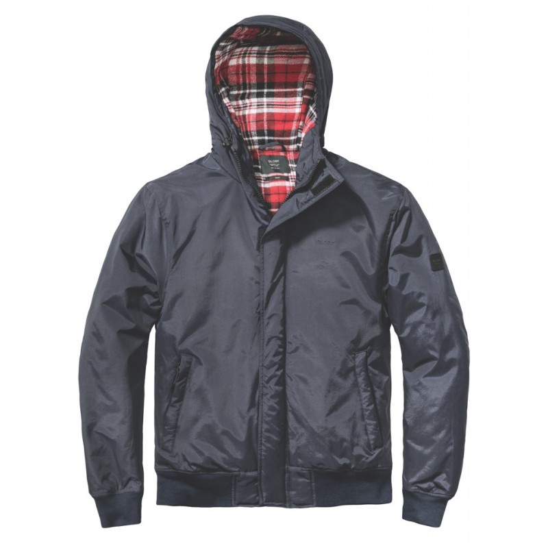 Globe Malvern gevoerde waterafstotende jas navy (600 mm waterdicht)