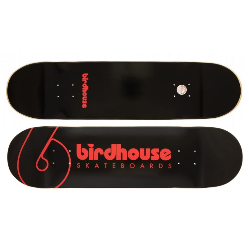 """Birdhouse Logo skateboard deck Team logo 8.25"""" black"""