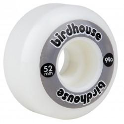 Birdhouse logo skatewielen 52 mm grijs