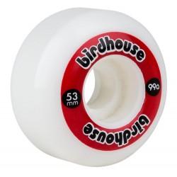 Birdhouse logo skate wheels 53 mm red