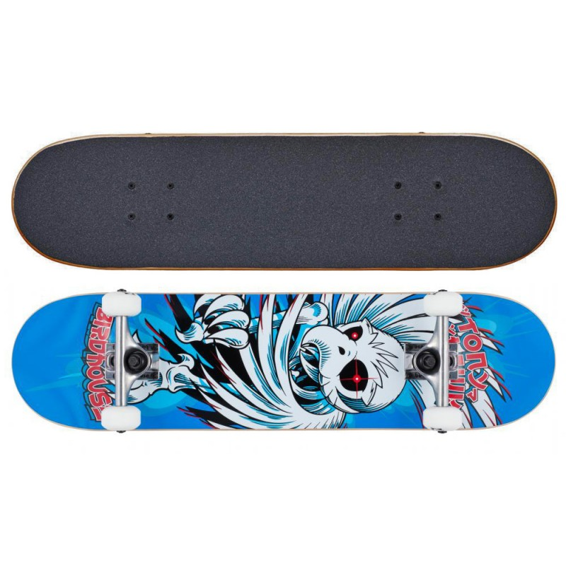"Birdhouse Stage 1 Hawk spiral blue 7.75"" skateboard"