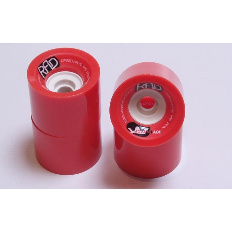 RAD Advantage wheels 74mm 80a red