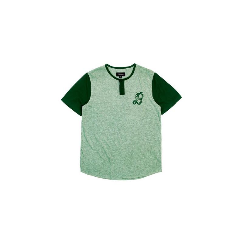 Brixton Major Henley T-shirt heather green