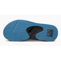 Reef Fanning slippers grey-light blue with church key