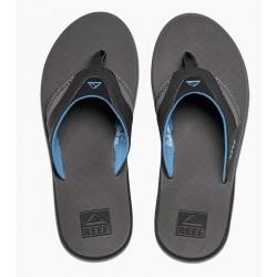 Reef Fanning slippers grey-light blue