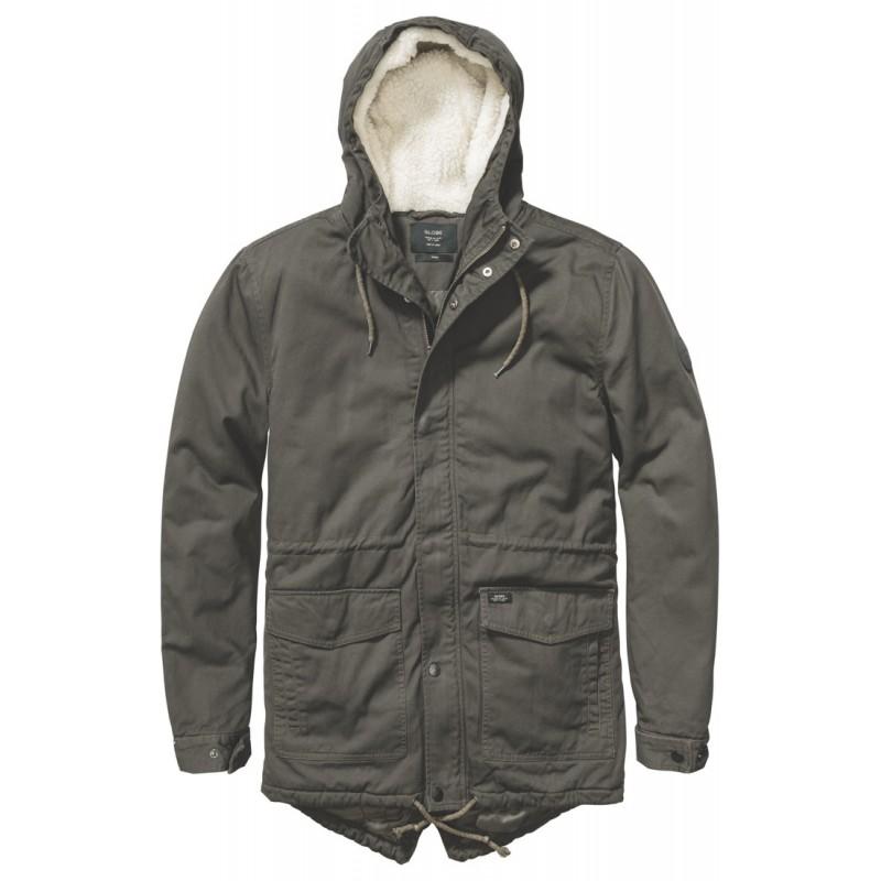 Globe Goodstock thermal fishtail jacket dark olive