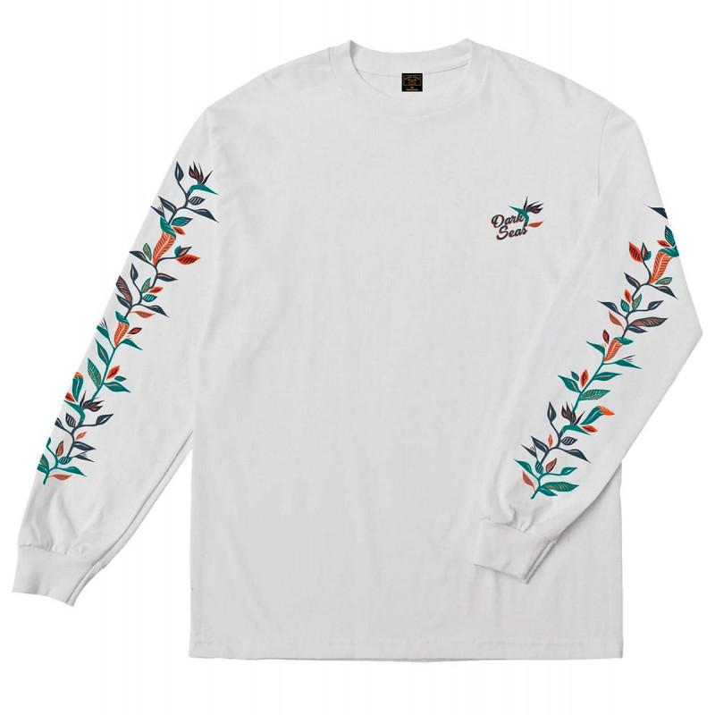 Dark Seas Greenery maglietta manica lunga bianca