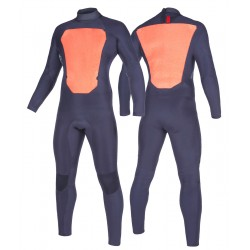 Mystic Star 5/3 mm GBS wetsuit backzip navy inside taping