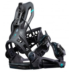 Flow Mayon Fusion snowboard binding rear angle