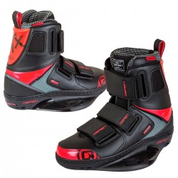 O'Brien GTX closed toe wakeboard boots red