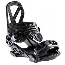 Arbor Hemlock snowboard bindings black