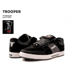 Fallen Trooper shoes black-white