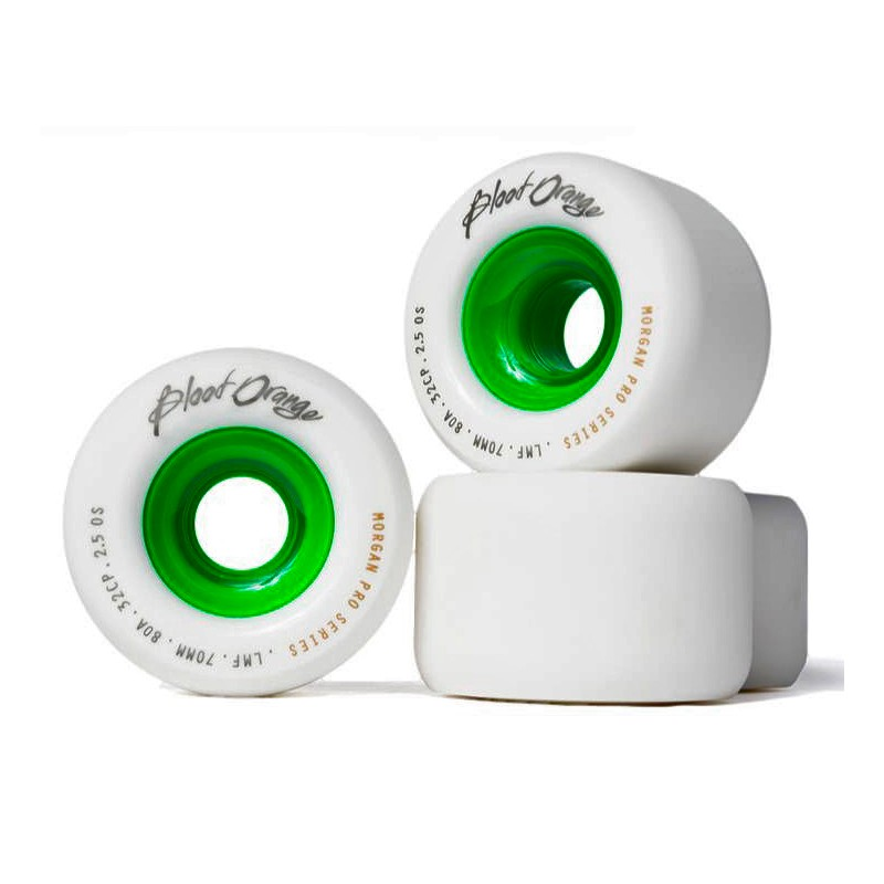 Blood Orange Liam Morgan Pro Model ruote 70mm 80a bianco verde