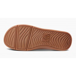 Reef LTHR Ortho coast slippers black-brown sole