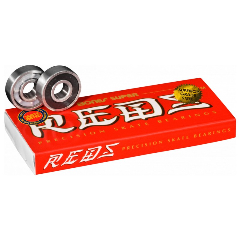 Bones Super Reds skateboard bearings (8 pack)