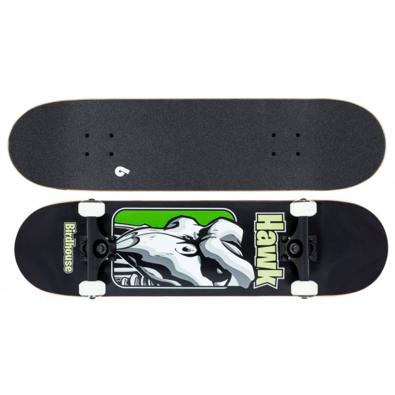 "Birdhouse Stage 3 Hawk 8"" skateboard old school zwart"