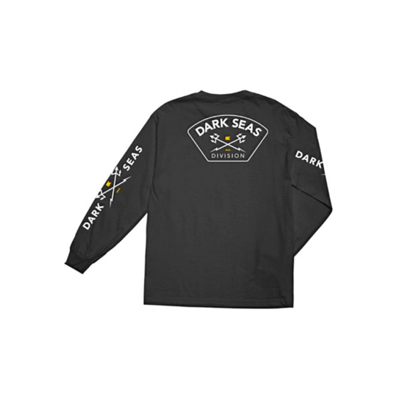 Dark Seas Moisture wicking T-shirt Long sleeve black