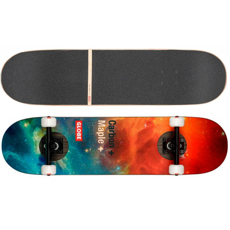 "Globe G3 Bar 8.125"" Skateboard carbon maple Impact-Nebula"