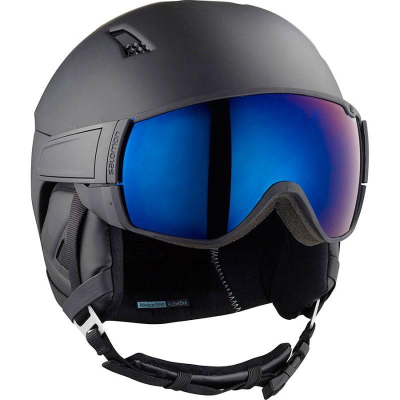 Salomon Driver solar casque de ski all black avec visor noir