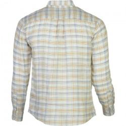 Brixton Memphis chemise à manches longues tissée crème