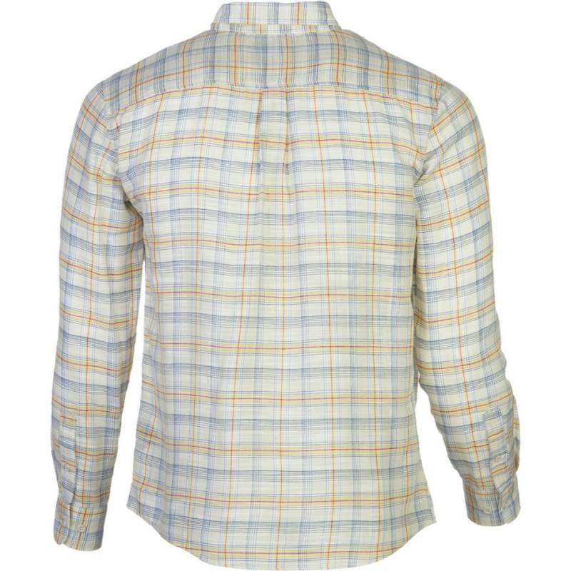 Brixton Memphis long sleeve shirt male woven cream