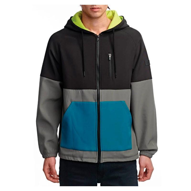 Globe Hazard veste à capuche en gris acier