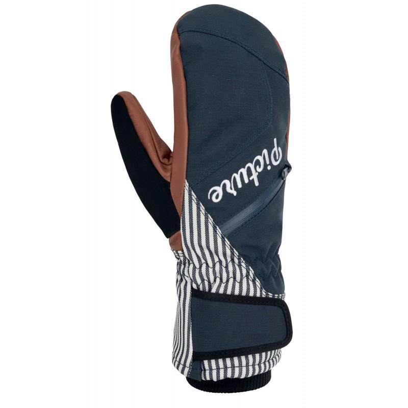 Picture Deltana female ski-snowboard mitten gloves 10K dark blue