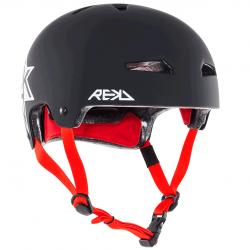 Rekd Elite icon skate helmet matte black-red