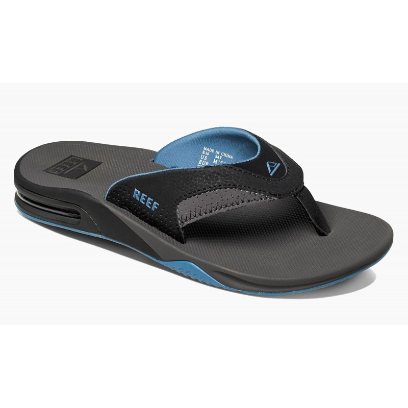 Reef Fanning slippers grey-light blue